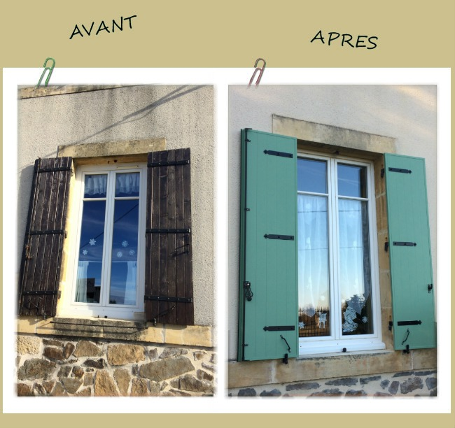 R novation de volets battants sur maison de ma tre alu glass - Renovation volet bois ...